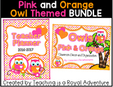 Pink and Orange Owl Themed MEGA BUNDLE