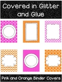 Pink and Orange Printable Binder Covers