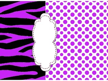 Pink and Purple Binder Covers