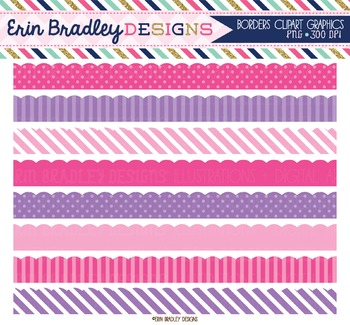 Pink and Purple Clipart Borders
