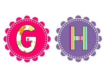 Pink and Purple Cute Letter Set