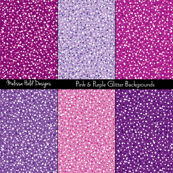 Pink and Purple Glitter Textures