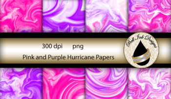 Pink and Purple Hurricane Papers Clipart