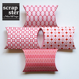 Pink and Red Patterned Pillow Boxes