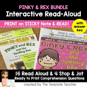 Reading Comprehension and Interactive Read Aloud - Pinky and Rex BUNDLE