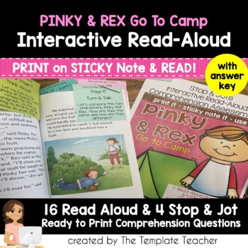 Reading Comprehension & Interactive Read Aloud with Pinky and Rex go to Camp