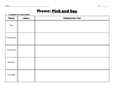 Pink and Say Theme Graphic Organizer and Reflection Questions
