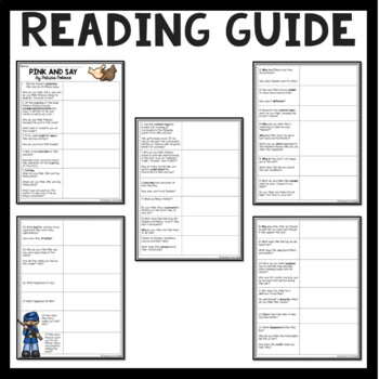 Pink and Say by Patricia Polacco reading comprehension lesson, Civil War