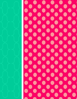 Pink and Teal Backgrounds and Cover Pages
