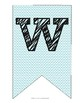 Pink and Teal Chevron Welcome Banner