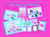 Pink and Teal Geometric Classroom Bundle with a Bonus!