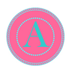 Pink and Turquoise Alphabet Letters and Numbers