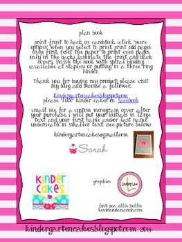 Pink and White Chevron, Dots, and Stripes Lesson Plan Book
