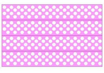 Pink and White Polka Dot Borders
