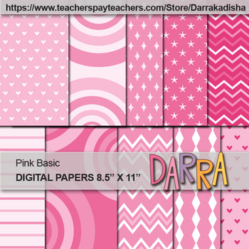 Pink background digital papers