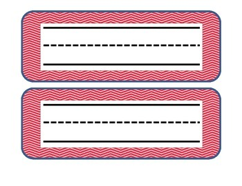 Pink chevron name plates