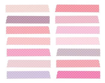 Pink heart Washi Tape Clipart, Pink, Heart, Washi, Tape, Set #213