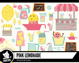 Pink lemonade stand digital clipart