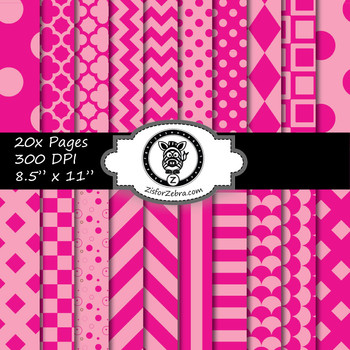 Pink paper pack - Commercial Use OK!