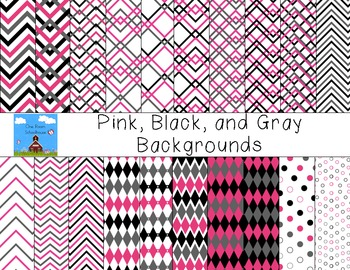 Pink/Black/Gray Backgrounds