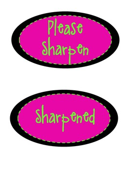 Pink/Lime Organization Labels