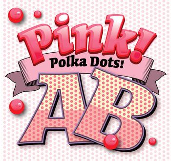 "PinkPink Polka Dots Alphabet Clip Art  /  96 pcs - 3"" High, Vector PDF and PNGs"