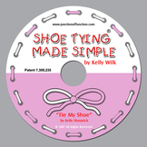 "Pink/White ""Tie My Shoe Teaching Song"""