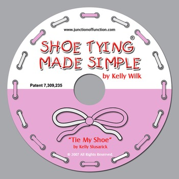 """Pink/White """"Tie My Shoe Teaching Song"""""""