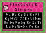 Pinkadots & Stripes Free Font! Polkadots and Stripes!