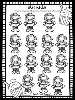 Pinkalicious Artic Activities-Articulation Activities for Speech Therapy