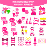 Pinkalicious Inspired Printable Photo Booth Prop Set
