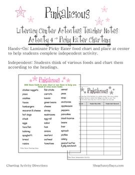 Pinkalicious Literacy Center Activities