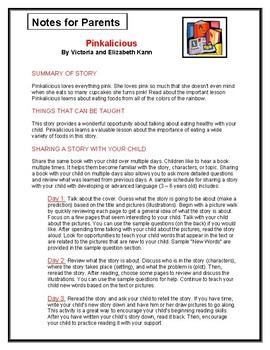 Pinkalicious Parent Notes