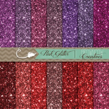 Pinks and Reds Glitter Backgrounds/Digital Papers