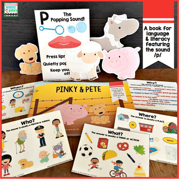 Speech and Language Book featuring the Sound P {Pinky and Pete}