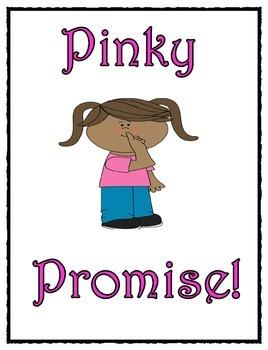 Pinky Promise (Behavior Clip Chart Reminder)