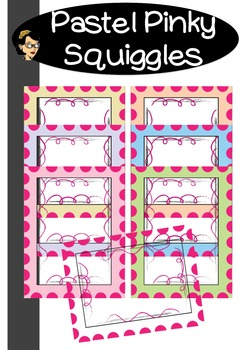 Pinky Squiggles in Pastel FRAMES