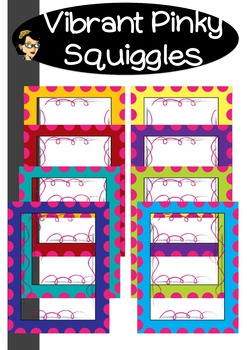 Pinky Squiggles in Vibrant FRAMES