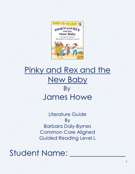 Pinky and Rex and the New Baby Literature Guide