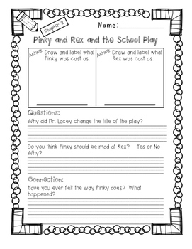 Pinky and Rex and the School Play Guided Reading Packet