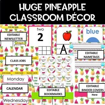 Pinneapple and Watermelon Classroom Decor Bundle