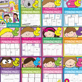 Pinning Pages Bundle - Fine Motor Pokey Pin Activities