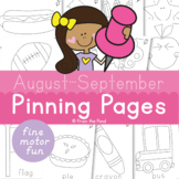 August and September Pokey Pin Pinning Pages