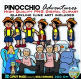 Pinocchio Clip Art for Personal and Commercial Use