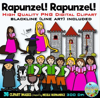 Rapunzel Clip Art for Personal and Commercial Use