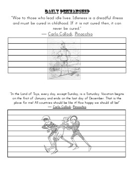Pinocchio Copywork & Notebooking Pages