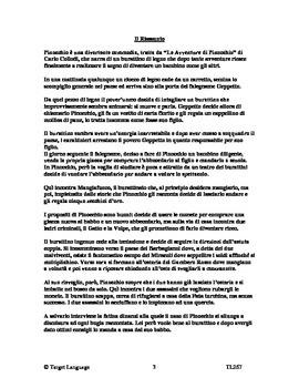 Pinocchio-Italian Study Guide