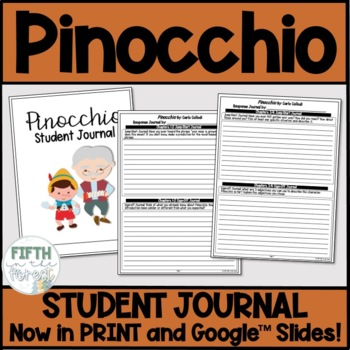 Pinocchio Novel Study BUNDLE discussion guide student journal and test