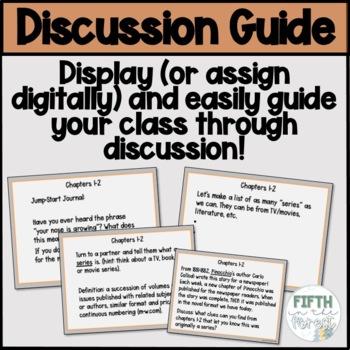 Pinocchio Novel Study NO PREP Class Discussion Guide