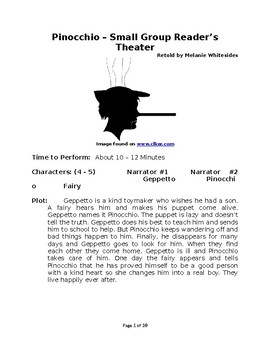 Pinocchio – Small Group Reader's Theater